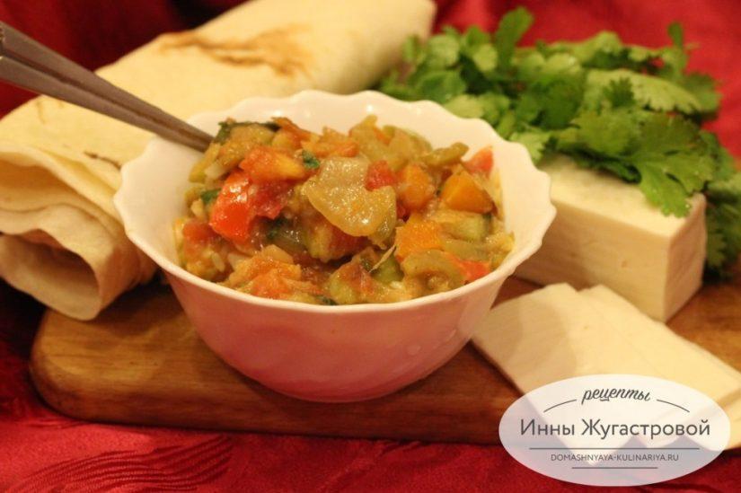 Соте из кабачков. Сезонный веганский овощной соус