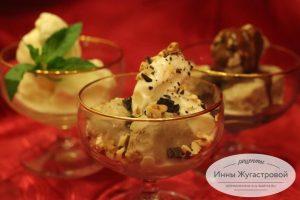 Домашнее мороженое на сливках и желтках