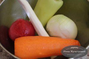 Шаг 3. Очистить овощи