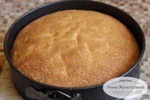 Бисквитный корж для торта Дачного