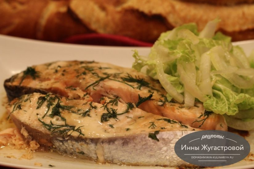 Вкусная красная рыба, запеченная в СВЧ, быстрый рецепт