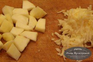 Шаг 4. Подготовленное яблоко