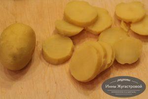 Шаг 2. Подготовленный картофель
