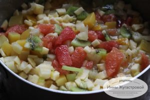 Веганский фруктовый десерт Амиго