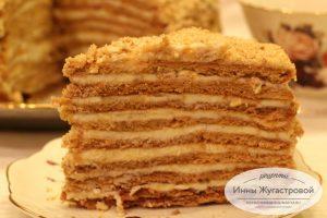 Нежный медовый торт Рыжик