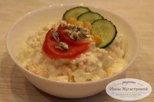 Салат из адыгейского сыра с кукурузой