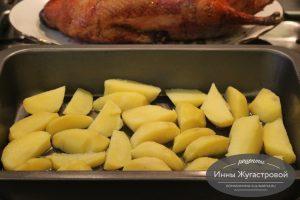 Картофельный гарнир к утке с яблоками