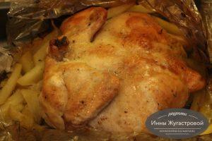 Шаг 10. Разрезать рукав, чтобы курица подрумянилась