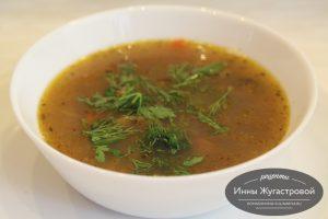 Фасолевый суп с рибами