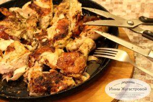 Шаг 8. Разрезать цыпленка