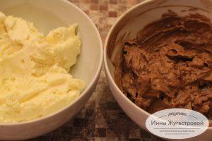 Шоколадный и ванильный крем шарлотт