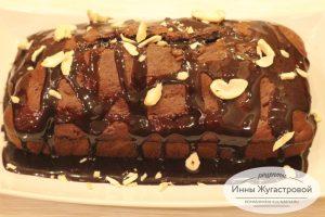 Шоколадный кекс с шоколадной помадкой