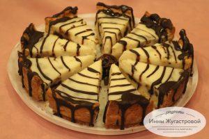 Песочный Пирог с черносливом, орехами и горьким шоколадом