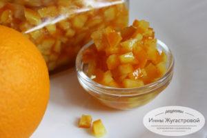 Быстрые апельсиновые цукаты
