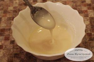 Шаг 12. Смешать лимонный сок с сахарной пудрой