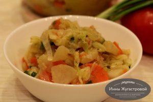 Веганское овощное рагу без мяса