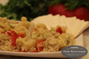Цветная капуста с овощами и рисом