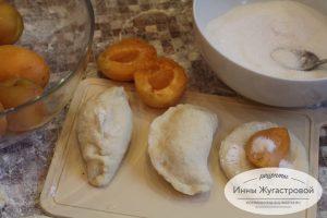 Пирожки с абрикосами для отрывного пирога