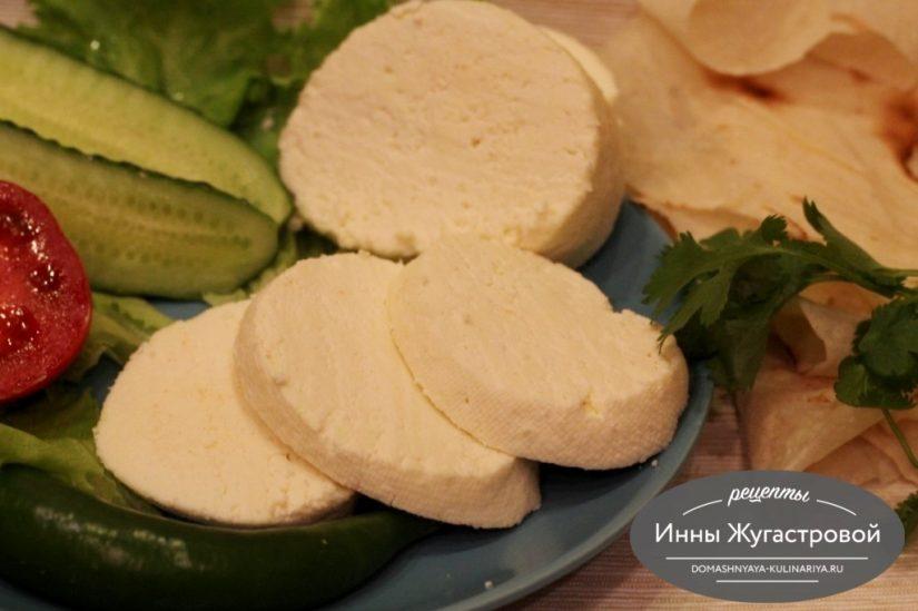 Домашний сыр из молока и сметаны с лимонной кислотой
