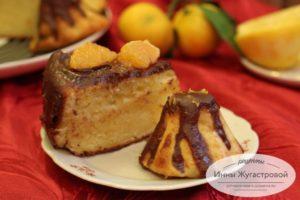 Лимонный творожный кекс
