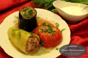 Мясное ассорти из овощей