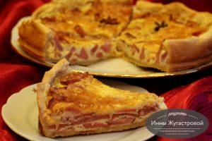 Лотарингский пирог с мясными нарезками