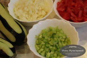 Шаг 2. Мелко нарезать овощи