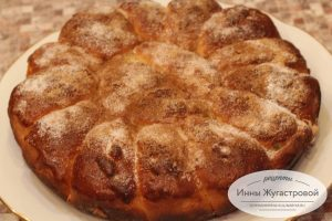 Отрывной пирог с абрикосами