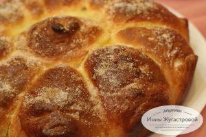 Абрикосовый дрожжевой отрывной пирог