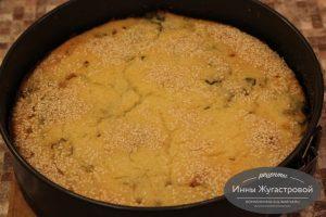 Рыбный наливной пирог с рисом