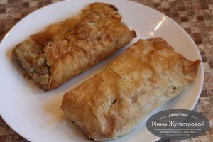 Конверты из лаваша с начинкой из рыбы и творожного сыра