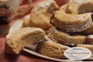 Печенье курабье из халвы