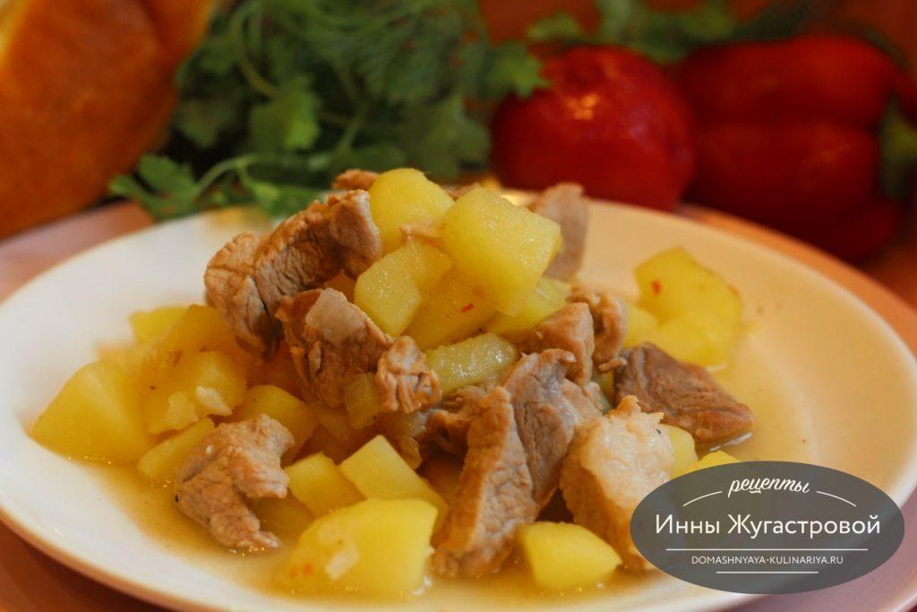 Как сделать соус из картошки и мяса