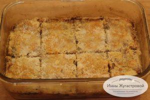 Яблочный пирог из насыпного теста