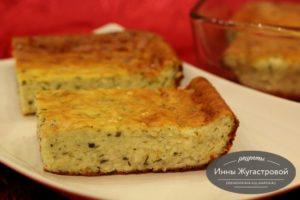 Сырный закусочный пирог (запеканка)