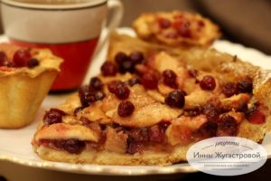 Клюквенно-яблочный пай с карамелью