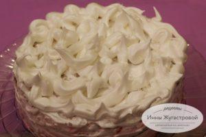 Лимонно-клюквенный песочный торт
