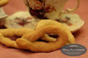 Итальянское сахарное дрожжевое печенье торчетти