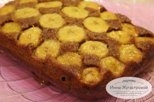Бананово-карамельный пирог перевертыш