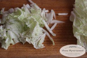 Шаг 1. Нарезать капусту