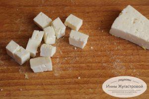 Шаг 5. Сыр нарезать