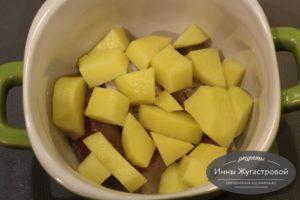 Шаг 6. Выложить картофель