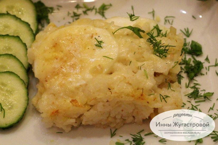 Яйца по-неаполитански с рисом в духовке, рецепт по Марининой
