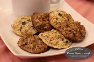 Овсяное и шоколадно-овсяное печенье (с геркулесом)