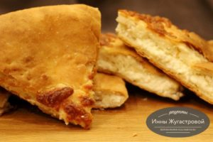 Пироги с творогом и сыром (хачапури) в духовке