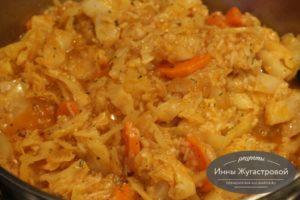 Лаханоризо, капуста с рисом