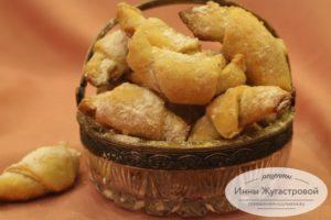 Ореховые трубочки из песочного теста