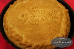 Пирог казачьей кухни с капустой и икрой сазана
