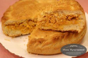 Пирог казачьей кухни с икрой сазана и капустой