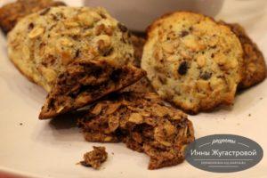 Печенье из обжаренного геркулеса